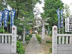 江北氷川神社鳥居