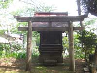 駒込富士神社祠