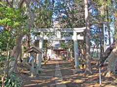 青山八幡神社鳥居
