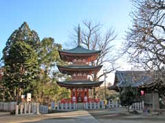 東海寺三重塔