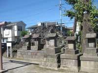 富士塚と境内社