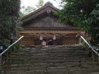 神魂神社拝殿と参道