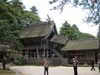 神魂神社拝殿と境内