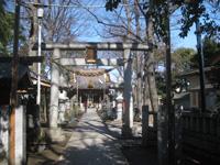 上丸子日枝神社鳥居