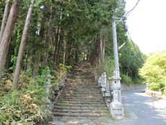 紹太寺旧本堂への参道