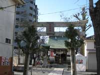 立石諏訪神社鳥居