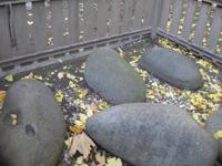 萩中神社の力石