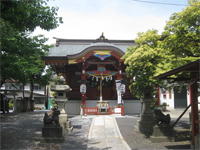 多摩川諏訪神社拝殿
