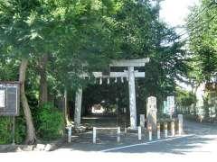 岡氷川神社鳥居
