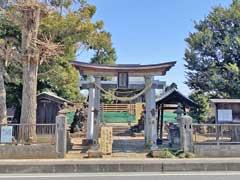 新井宿子日神社鳥居