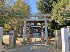西新井宿氷川神社鳥居