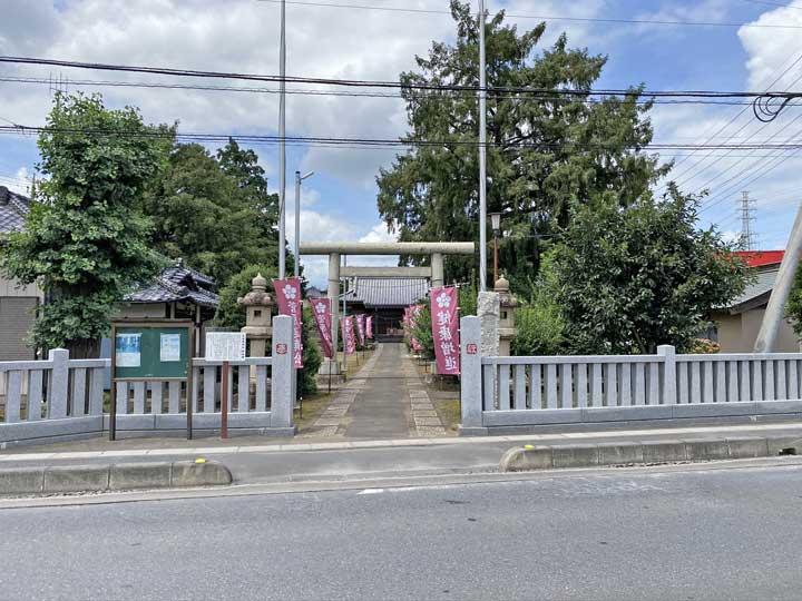 生出塚神社。鴻巣市天神の神社