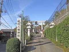 上新倉氷川八幡神社鳥居