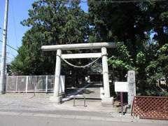 諏訪雷電神社鳥居