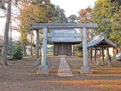 猿ヶ谷戸神明神社鳥居