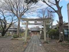 上戸田氷川神社鳥居