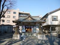 穏田神社社殿