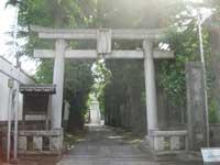 桐ヶ谷氷川神社鳥居