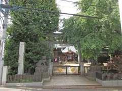 月見岡八幡神社鳥居
