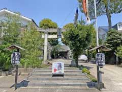 天沼熊野神社鳥居