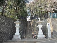奈良橋八幡神社参道