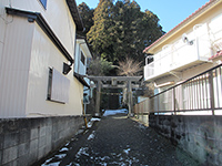 元石川町御嶽社(1)鳥居