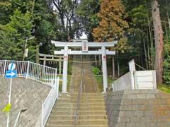 上菅田八幡神社鳥居