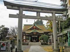 東神奈川熊野神社鳥居